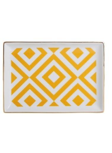 Porland Morocco Kahvaltı Tabağı Desen4 Sarı 18x13cm Sarı